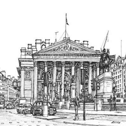 Royal Exchange London - Original drawings