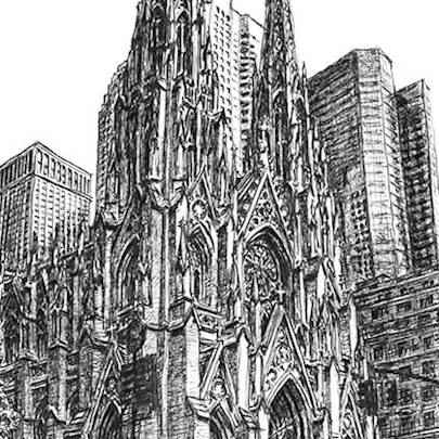 St Patricks Church New York - Original Drawings