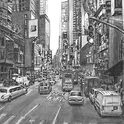 Times Square New York 2007 - Original Drawings