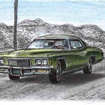 1971 Buick Riviera - Original Drawings