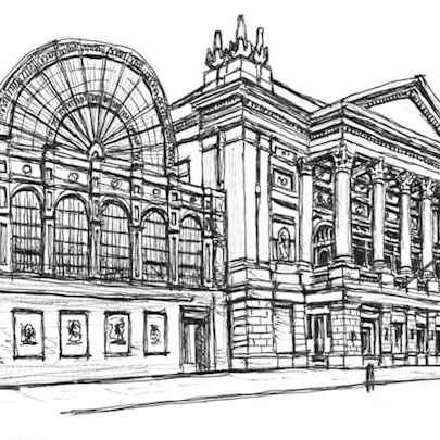Royal Opera House in Covent Garden - Original Drawings