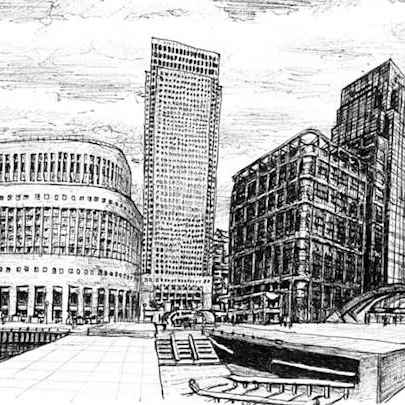 Canary Wharf 2007 - Original Drawings