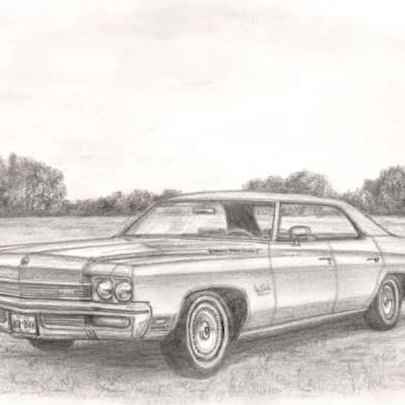 1972 Buick Le Sobre - Drawings - Originals, prints and limited editions