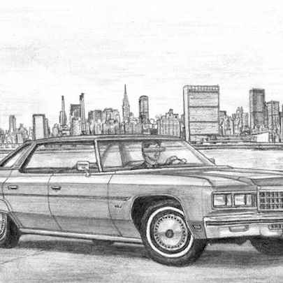 Drawing of 1976 Chevrolet Caprice 4 door Hard Top Sedan
