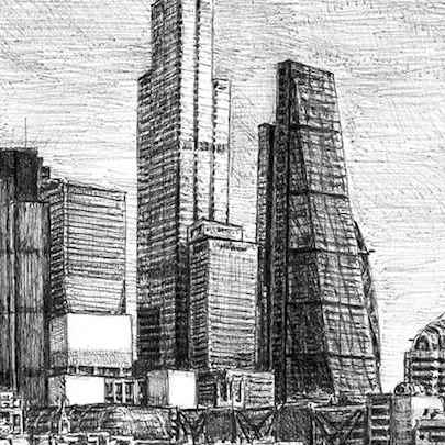 22 Bishopsgate - Drawings - Originals for sale