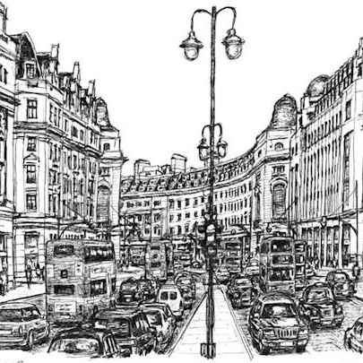 Regent Street London - Original Drawings