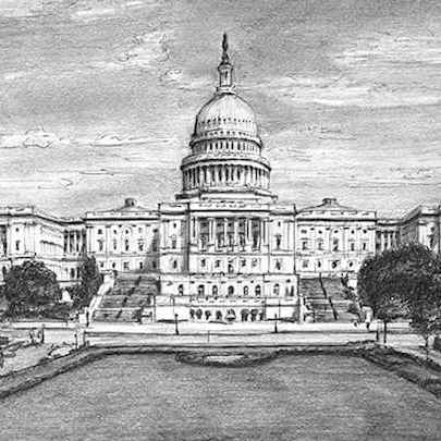 Capitol Hill - Drawings - Originals for sale