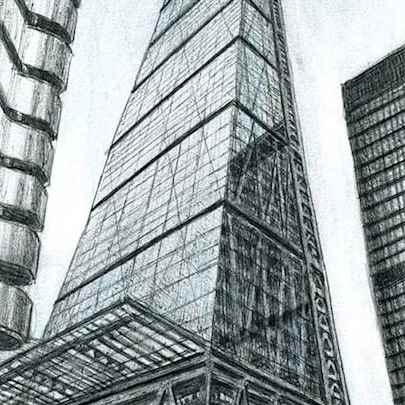 Leadenhall Building - Drawings - Originals for sale