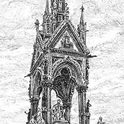 The Albert Memorial - Drawings - Originals, prints and limited editions