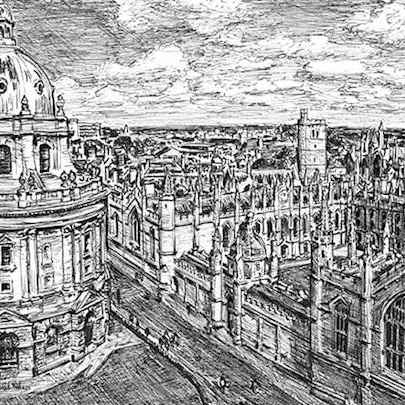 Oxford - Drawings - Originals, prints and limited editions