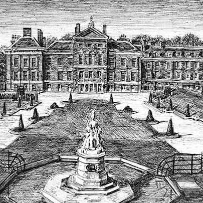 Kensington Palace Gardens - Drawings - Originals for sale