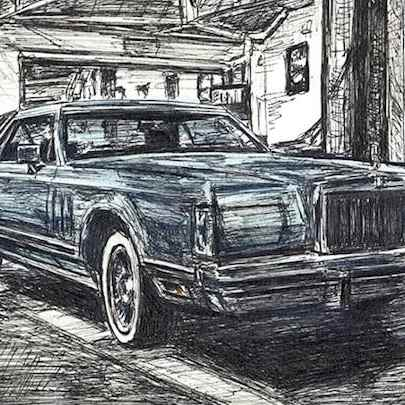 Drawing of 1977-79 Lincoln Continental Mark V