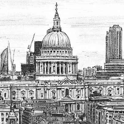 St Pauls Cathedral (Limited Edition of 50) - Drawings