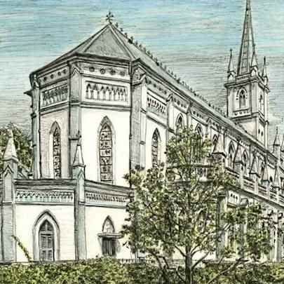 Drawing of Chijmes, Singapore