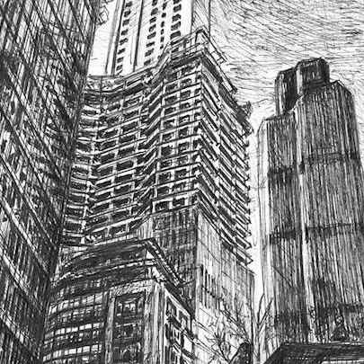 22 Bishopsgate, City of London - Drawings - Originals, prints and limited editions
