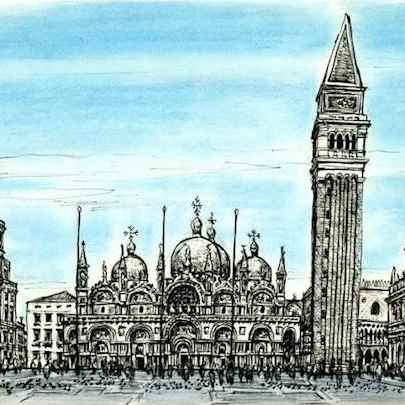 St Marks Square - San Marco - Original drawings