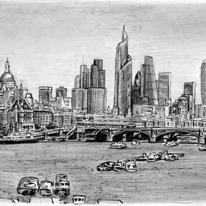 The Changing London Skyline - Original drawings