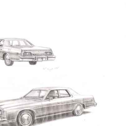 1973 Ford LTD - Original drawings and Architectural Art
