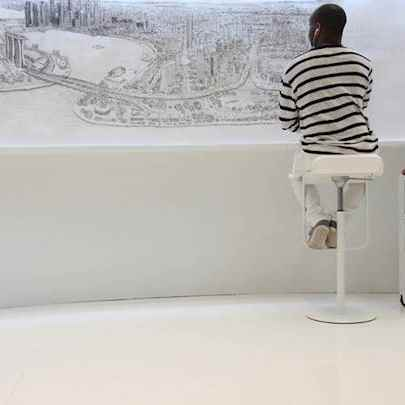 Singapore Panorama print - Stephen Wiltshire drawings, originals, prints and limited editions - Prints for sale