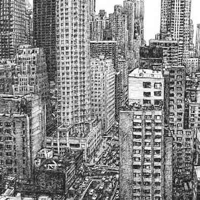 New York street scene - Original Drawings
