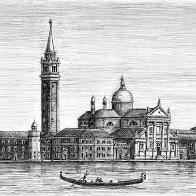 San Giorgio Maggiore in Venice - Drawings - Originals, prints and limited editions