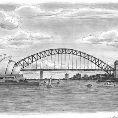 Sydney Harbour - Drawings - Originals, prints and limited editions