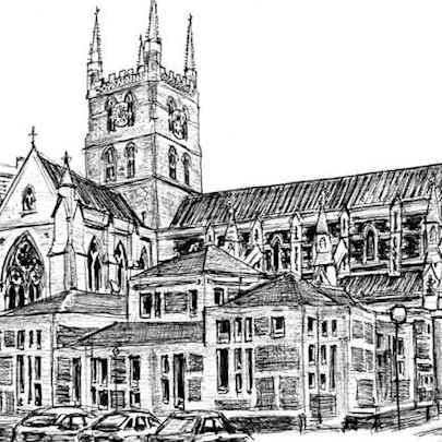 Southwark Cathedral - Original drawings