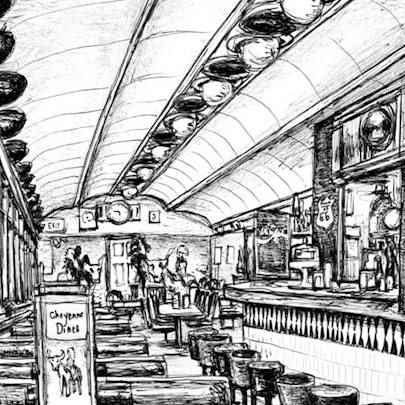 Cheyenne`s Diner in New York - Original Drawings
