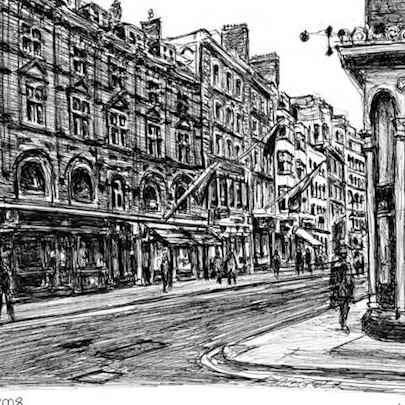 Old Bond Street, London - Drawings - Originals, prints and limited editions