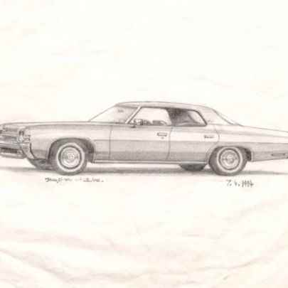 1972 Chevy Impala - Drawings - Originals, prints and limited editions