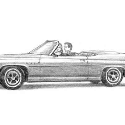 Drawing of 1975 Buick Le Sabre Convertible