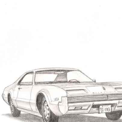 1966 Oldsmobile Toronado - Original drawings