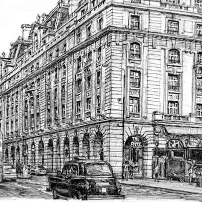 Drawing of The Ritz Hotel, Piccadilly, London