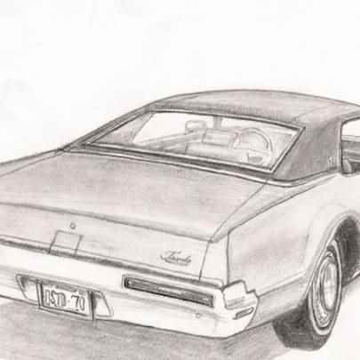 1970 Oldsmobile Toronado - Original drawings