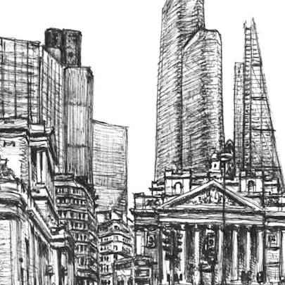Pinnacle and Leadenhall Building - Drawings - Original drawings and Architectural Art