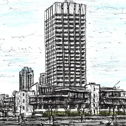 ITV Centre at Southbank - Drawings - Originals, prints and limited editions