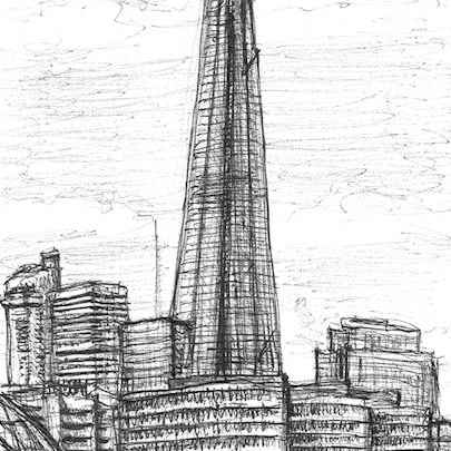 The Shard - Drawings - Original drawings and Architectural Art