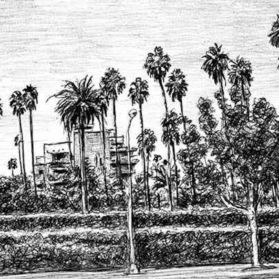 Drawing of Beverly Hills 2003