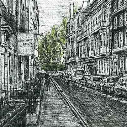 Frith Street, Soho - Original drawings