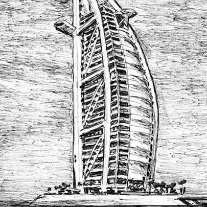 Burj Al Arab - Original drawings
