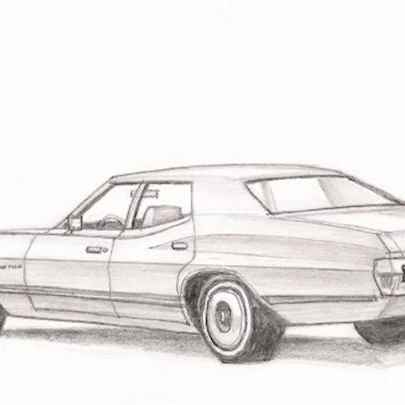 Ford Gran Torino - Original drawings