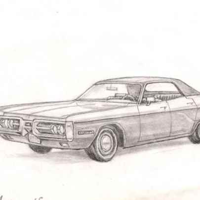 1972 Plymouth Fury III - Original drawings