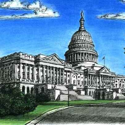 Capitol Hill, Washington DC - Original Drawings
