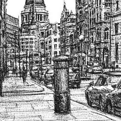 St Pauls from Fleet Street - Original drawings