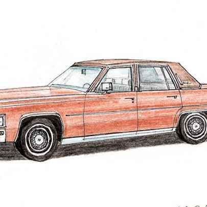 1979 Cadillac Fleetwood Brougham - Original drawings