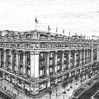 Selfridges, Oxford Street, London - Drawings - Originals for sale