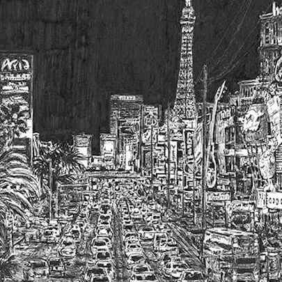 Las Vegas - Drawings - Originals for sale