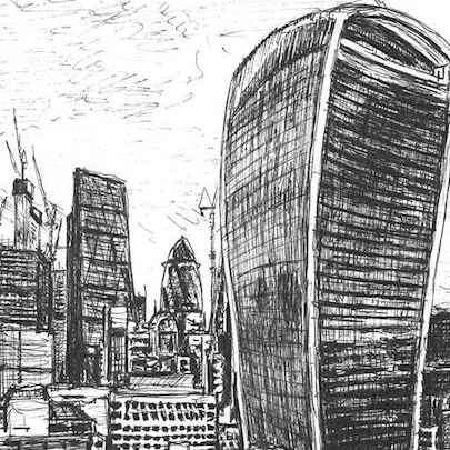 20 Fenchurch Street, City of London - Drawings - Originals, prints and limited editions