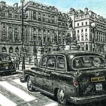 Drawing of London Taxi