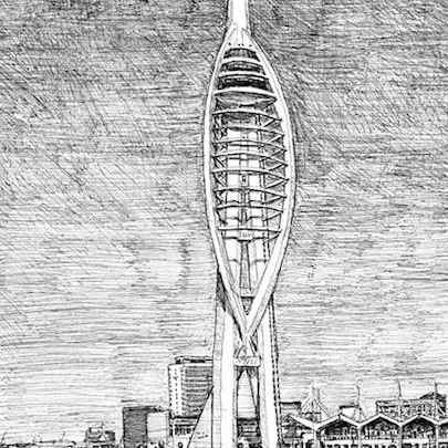Spinnaker Tower, Portsmouth - Original drawings